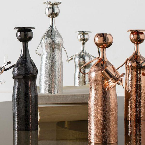Portacandele-vaso-argento-zanetto-piccolo-uomo-arredo-casa